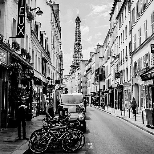 Stadtansicht Paris mir Eiffelturm